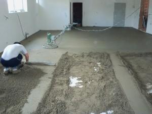 Betonová podlaha postup